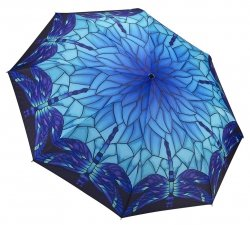 Niebieskie ważki Tiffany składana parasolka Galleria