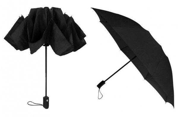 Reverse black parasolka full-auto składana odwrotnie