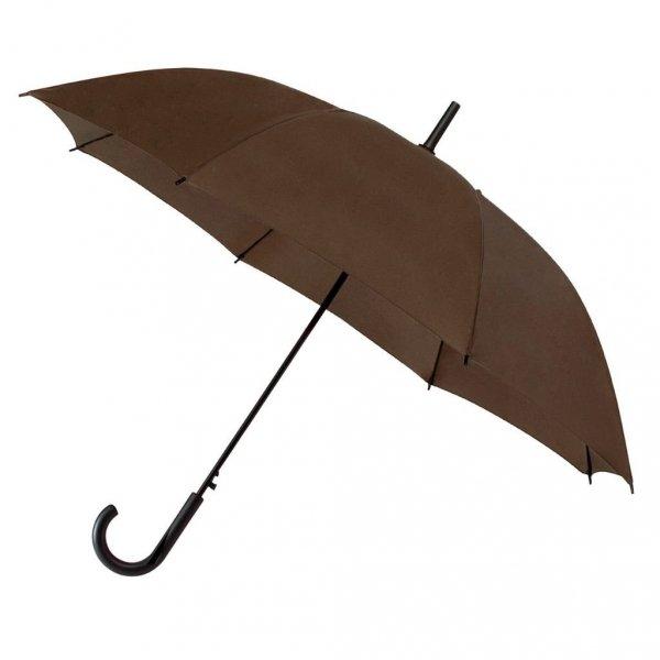 Falconetti® brązowa gładka parasolka automatyczna