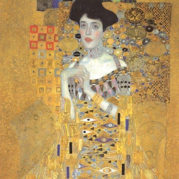 "Gustav Klimt ""Adele"" parasolka składana full-auto Von Lilienfeld"