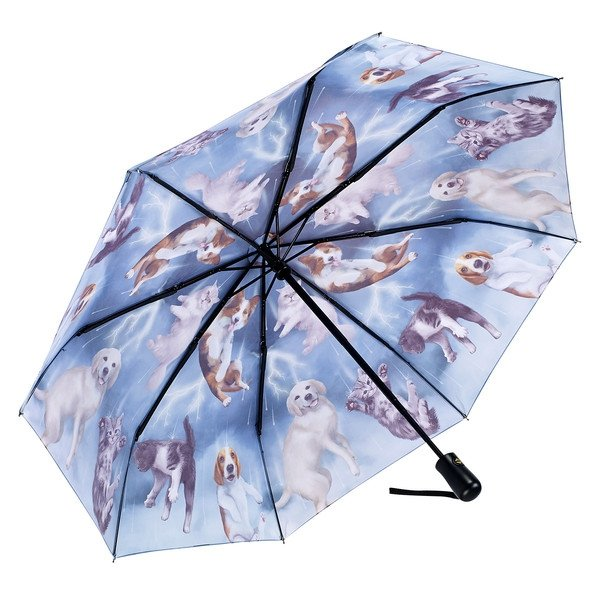 Deszcz kotów i psów - parasolka składana Galleria