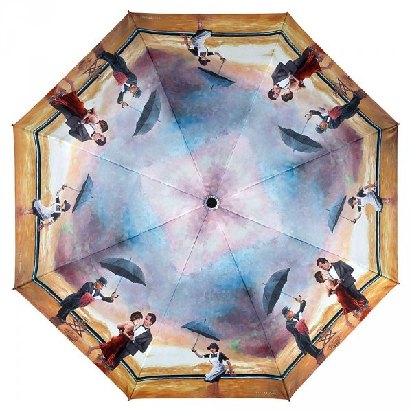 Singing Butler by Theo Michael - długi parasol delux ze skórzaną rączką