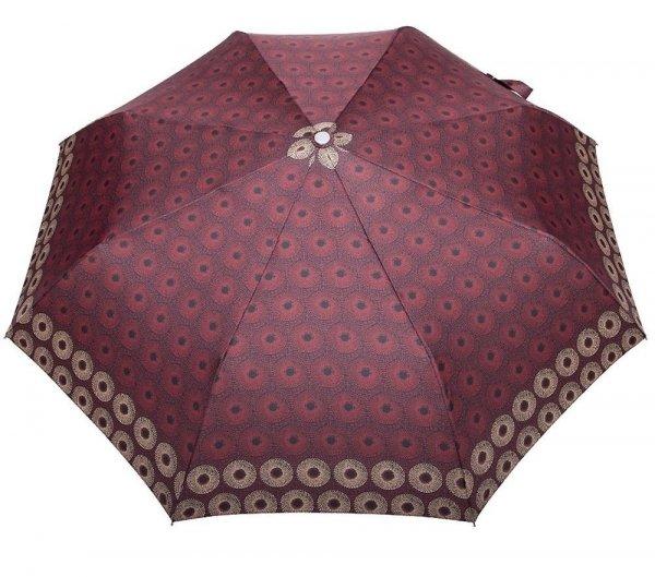 Bordowe rozety - parasolka składana full-auto DP341