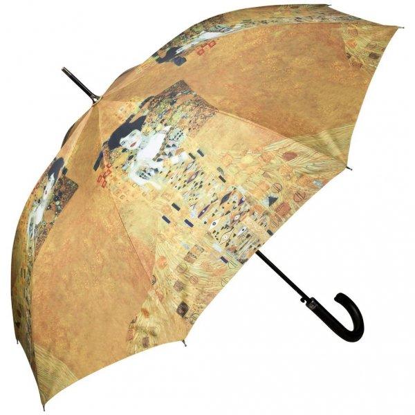 Gustav Klimt Adele - parasol długi ze skórzaną rączką