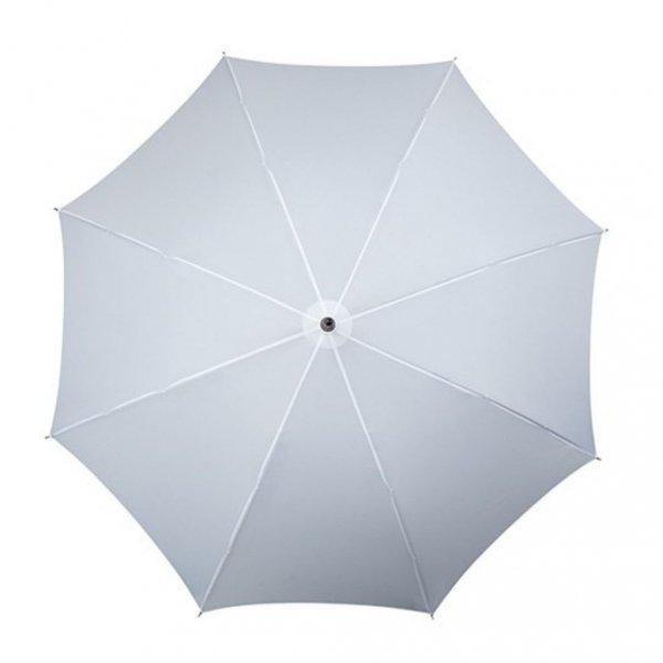 Falcone® biały parasol automat z drewnianą rączką
