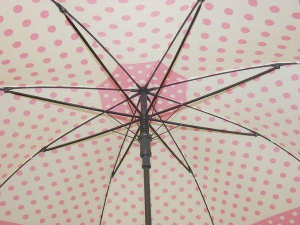 Pierre Cardin - różowe groszki - parasol długi automat