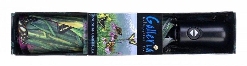 Górskie motyle składana parasolka damska Galleria