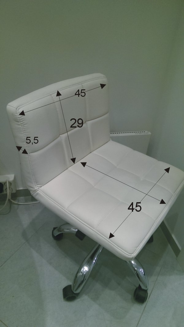 Pokrowce na krzesełko z oparciem Kris frotte szare nr 29