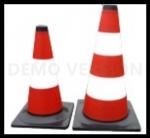 35583 Pachołek drogowy biało-czerwony 50 cm odblaskowy