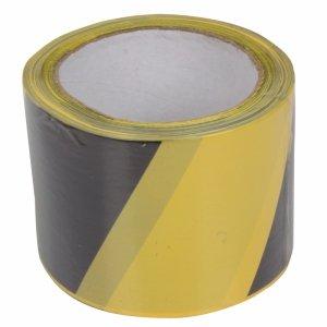 13165 Taśma ostrzegawcza żółto-czarna, 75mm, 100m