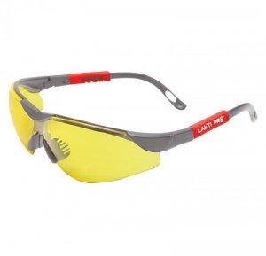 Okulary ochronne żółte regul., odporność mech.f, ce, lahti