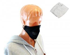 AG303E Maska tekstylna pm 2.5 z zaworem
