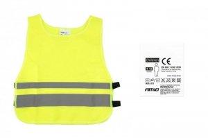 01736 Kamizelka ostrzegawcza dziecięca żółta SVK-03 z certyfikatem