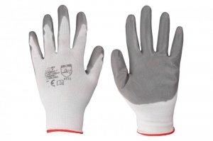 Rękawice robocze powlekane szarym nitrylem