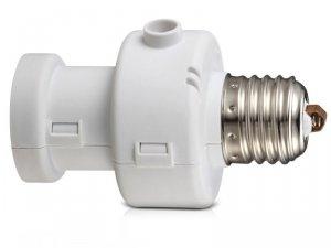 Oprawa żarówki Maclean, E27, max. 100W, z czujnikiem zmierzchu, timer, kolor biały, MCE21W