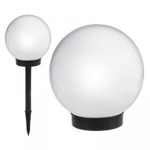 Solarna lampa wolnostojąca ogrodowa - kula 15x15x48cm, bialy LED GB121
