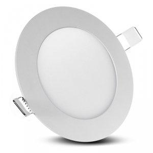 Panel LED sufitowy podtynkowy slim 6W Warm white 2800-3200K Led4U LD151W  Fi120*H20mm
