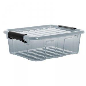 Pojemnik z pokrywą Plast Team Home Box 2L transparentny szary