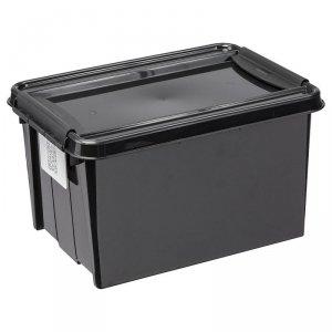 Pojemnik z pokrywą PlastTeam ProBox Recycle QR 14L czarny