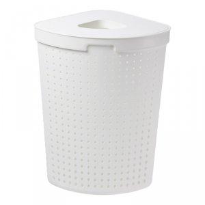 Kosz na pranie narożny Plast Team Seoul 62L biały