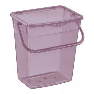 Pojemnik na proszek Plast Team 6L transparentny fioletowy