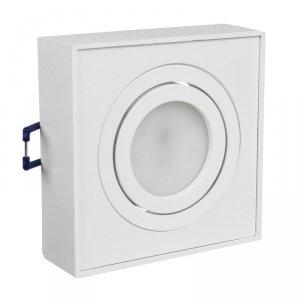 Punktowa oprawa sufitowa Maclean, dla źródeł światła MR16/GU10, kolor biały, 94x94x32mm, kwadratowa, alu, MCE464 W
