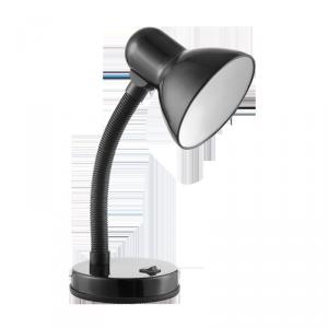 FUPI, lampa biurkowa, 40W, E27, stal + tworzywo, czarna