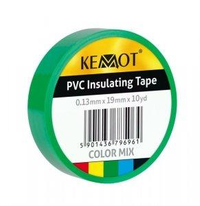 NAR0427 Taśma izolacyjna Kemot 0,13x19x10Y klejąca zielona