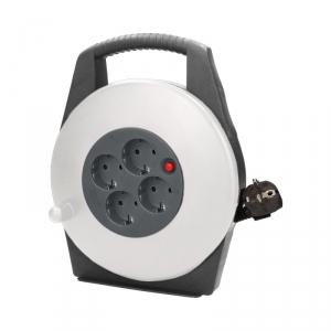Przedłużacz bębnowy, 4 gniazda 2P+Z (schuko), kabel PVC H05VV-F 3x1mm2 , długość 10m