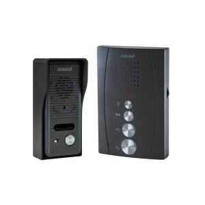 Zestaw domofonowy jednorodzinny, bezsłuchawkowy, czarny ELUVIO