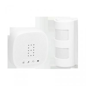 Bezprzewodowy czujnik ruchu z sygnalizacją dźwiękową i świetlną, IP44, 300m, z możliwością rozbudowy do 16 sensorów, do 4 stref