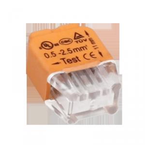 Złączka instalacyjna wciskana 2-przewodowa; na drut 0,75-2,5mm?; IEC 300V/24A; 10 szt.