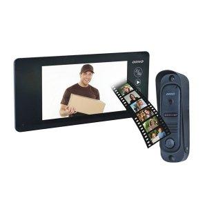 Zestaw wideodomofonowy pin hole,  ARCUS MEMO 7, czarny