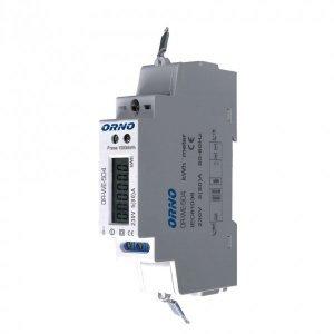 1-fazowy wskaźnik zużycia energii elektrycznej, 80A, port RS-485, 1 moduł, DIN TH-35mm
