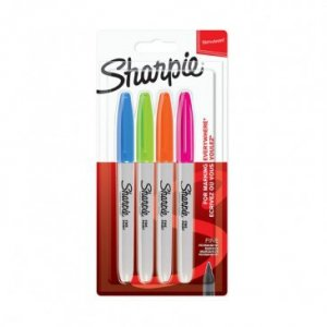 SHARPIE -zestaw markerów 4 szt FINE POINT