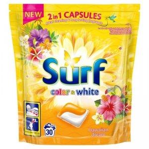 SURF Kapsułki do prania Hawajski Kolor&Biały 30szt