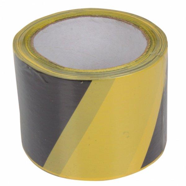 13167 Taśma ostrzegawcza żółto-czarna, 120mm, 100m