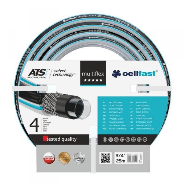 "Wąż ogrodowy Cellfast Multiflex ATSV 3/4"" 25m"