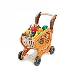 WOOPIE Wózek Sklepowy dla Dzieci Ruchome Elementy + 42 Akc.