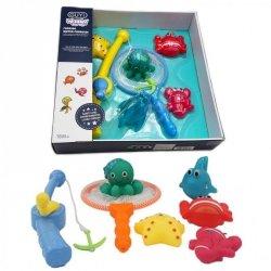 WOOPIE Zabawki do Kąpieli Zestaw Gra Łowienie Rybek + Wędka Siatka