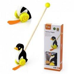 Viga Toys Drewniany Pchacz Pingwin
