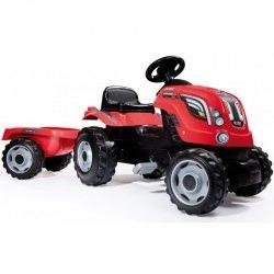 Traktor na pedały dla dziecka Smoby Farmer XL z przyczepą - Czerwony