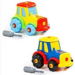 Kolorowy Traktor Ze Śrubokrętem (20 el.)