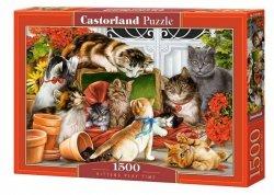 Puzzle 1500 elementów Kotki czas zabawy