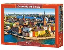 Puzzle 500 elementów Sztokholm Szwecja Stare Miasto