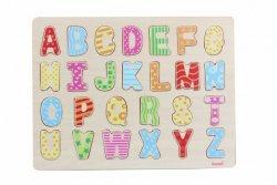 Układanka drewniana Wielkie litery Kolorowa