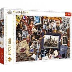 Puzzle 500 elementów Pamiątki z Hogwartu Harry Potter