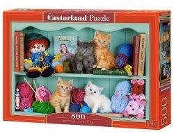 Puzzle 500 elementów Koty na półce