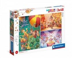Puzzle 3x48 elementów - Cyrk