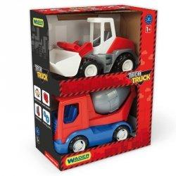 Tech Truck auta budowlane - Betoniarka i ładowarka
